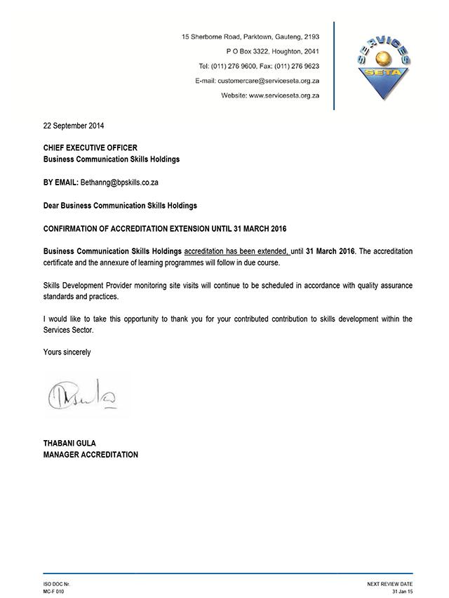 Seta Accredited Business Communication Skills Training Programs